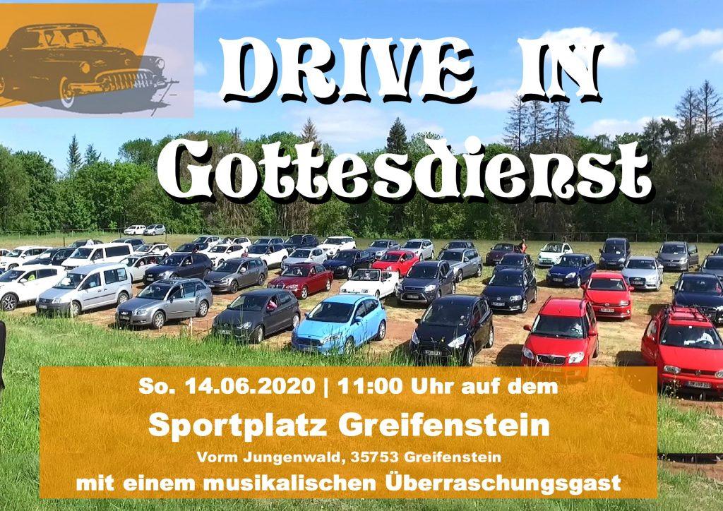 Drive In Gottesdienst am 14.06.20, 11:00 Uhr, Sportplatz Greifenstein